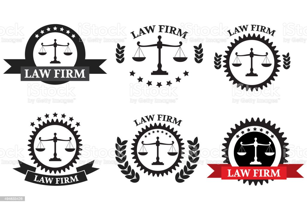 Law Firm Logo Set Stock Illustration - Download Image Now - iStock