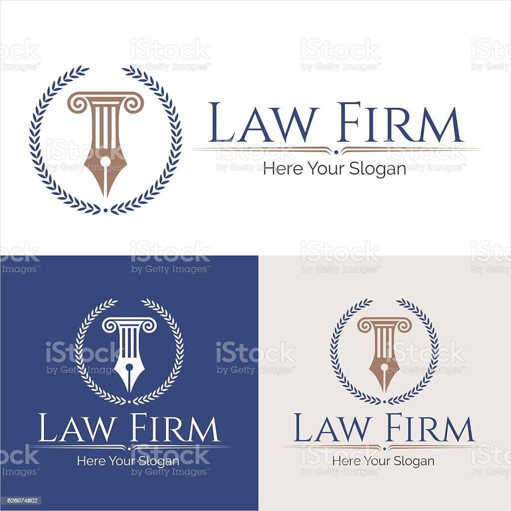 law firm logo - ilustración de arte vectorial