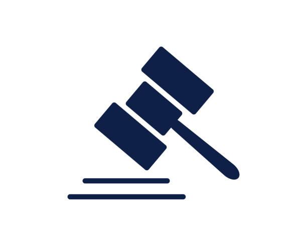 law glyph icon vector art illustration