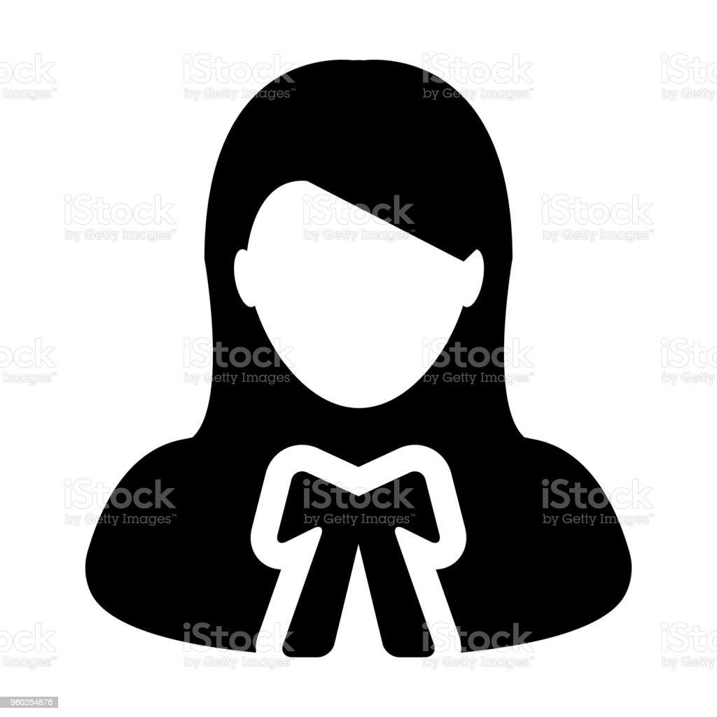 Law Icon Vector Female User Person Profile Avatar Symbol For Justice