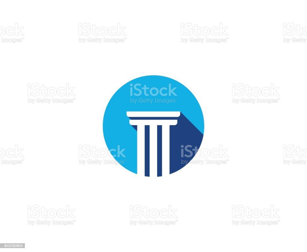 Law icon vector art illustration