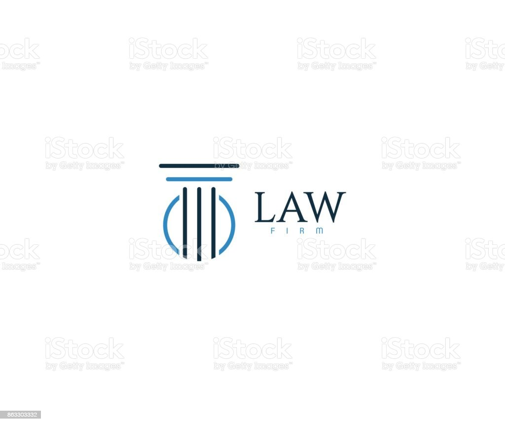 Law icon - illustrazione arte vettoriale