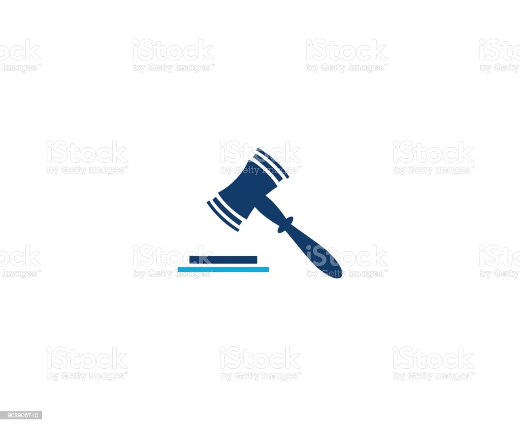 Law icon vector art illustration