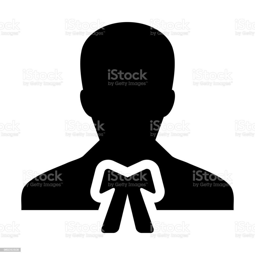 Law Icon Vector Male User Person Profile Avatar Symbol For Justice