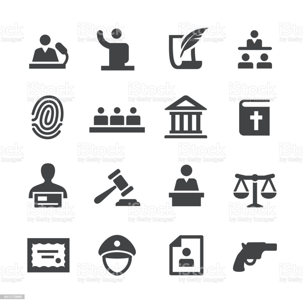 Law Icons Set - Acme Series vector art illustration