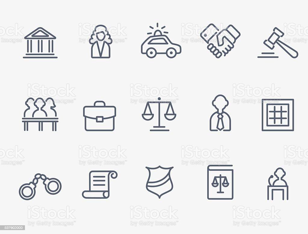 Iconos de ley - ilustración de arte vectorial