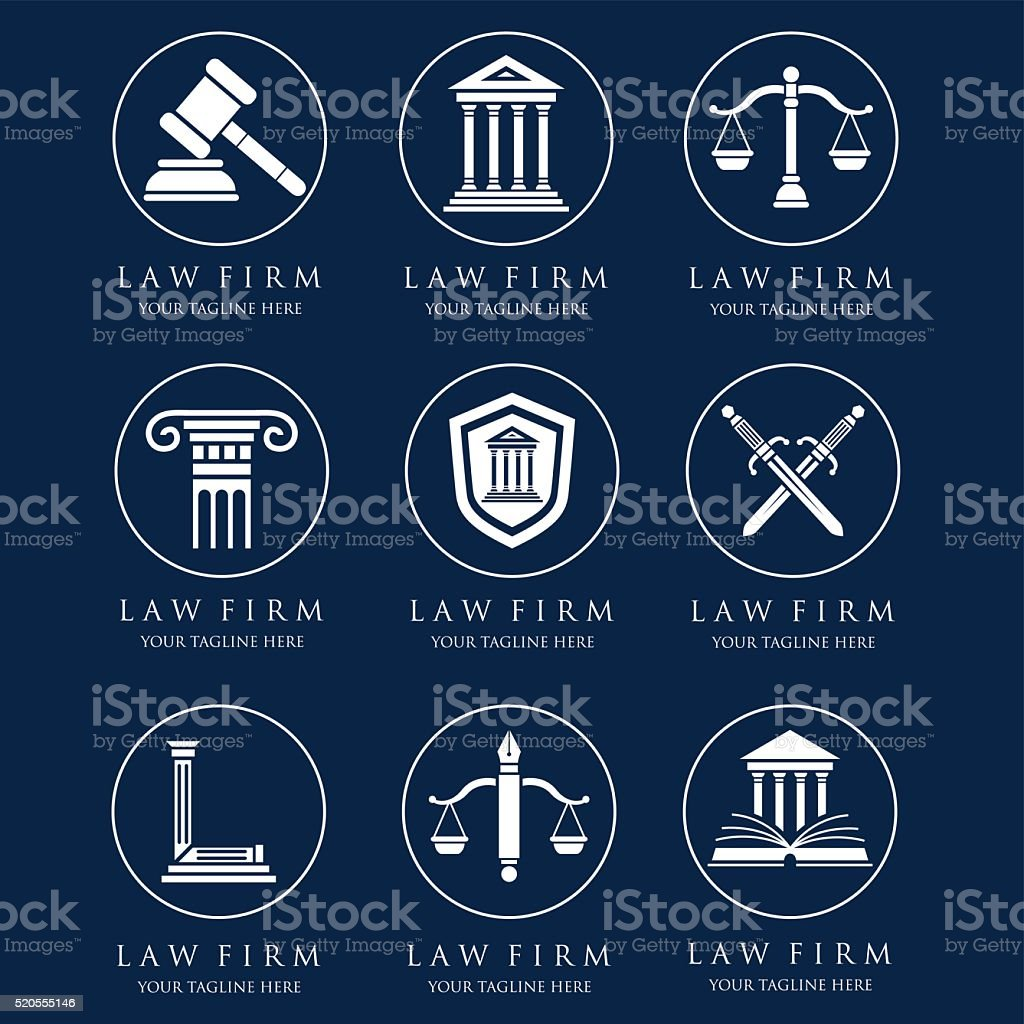 Ley de logotipos - ilustración de arte vectorial