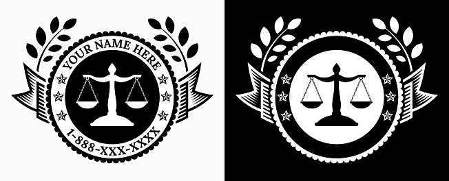 Law Office Logo Black and White Template