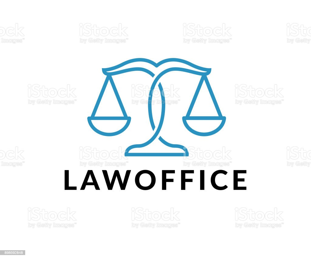 law office vector icon - illustrazione arte vettoriale