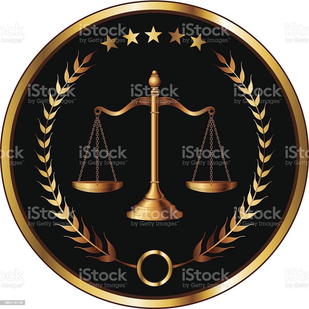 Law or Layer Seal vector art illustration