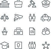 Legal system,  law, justice,  icon, icon set, police, court,  scales of justice