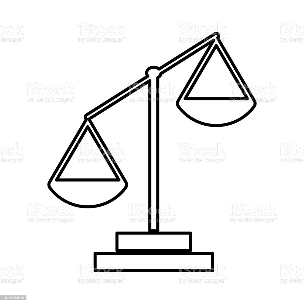 law scale black color icon stock vector art more images of antique