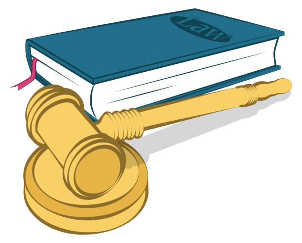 Law vector art illustration