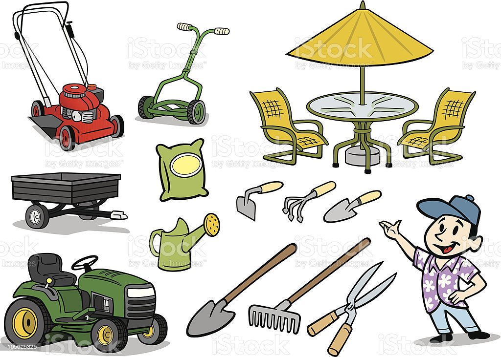 Lawn And Garden Stuff Royalty Free Lawn And Garden Stuff Stock Vector Art  U0026amp;