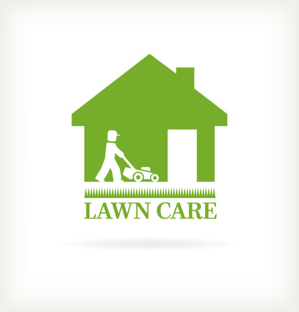 Royalty free lawn care service clip art vector images illustrations istock for Lawn care vector