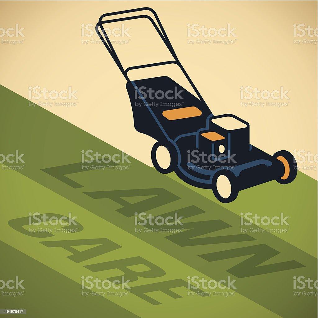Lawn Care vector art illustration