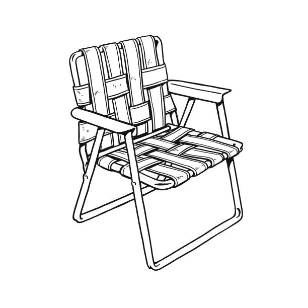 Lawn Chair Lawn Chair outdoor chair stock illustrations