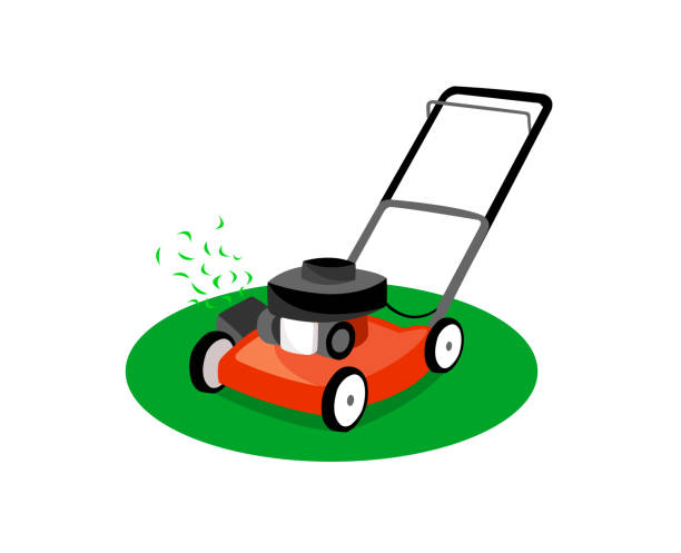 3 794 Lawn Mower Illustrations Royalty Free Vector Graphics Clip Art Istock