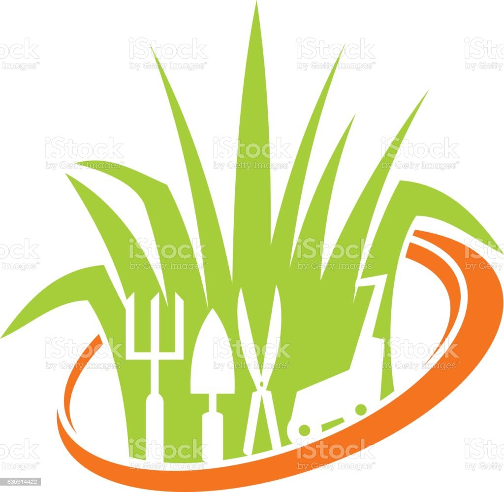 royalty free professional lawn care clip art  vector