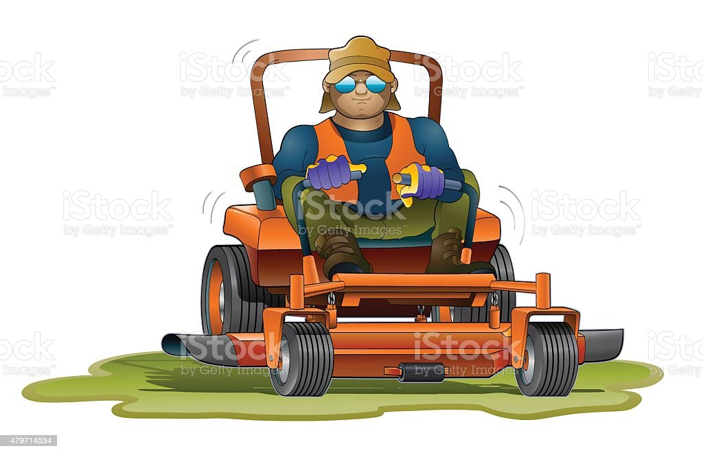 Lawn Mower vector art illustration