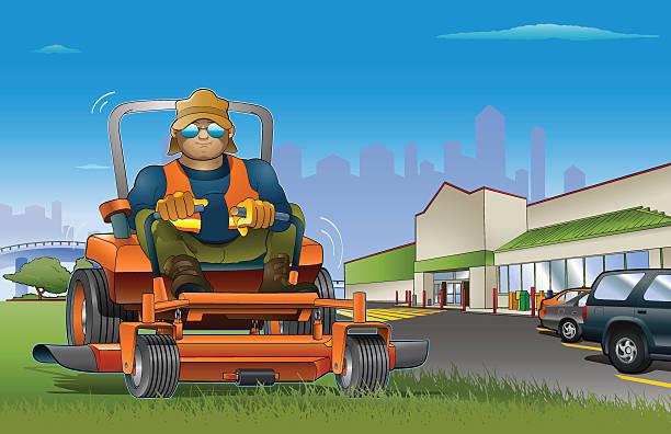 Best Lawn Care Service Illustrations Royalty Free Vector