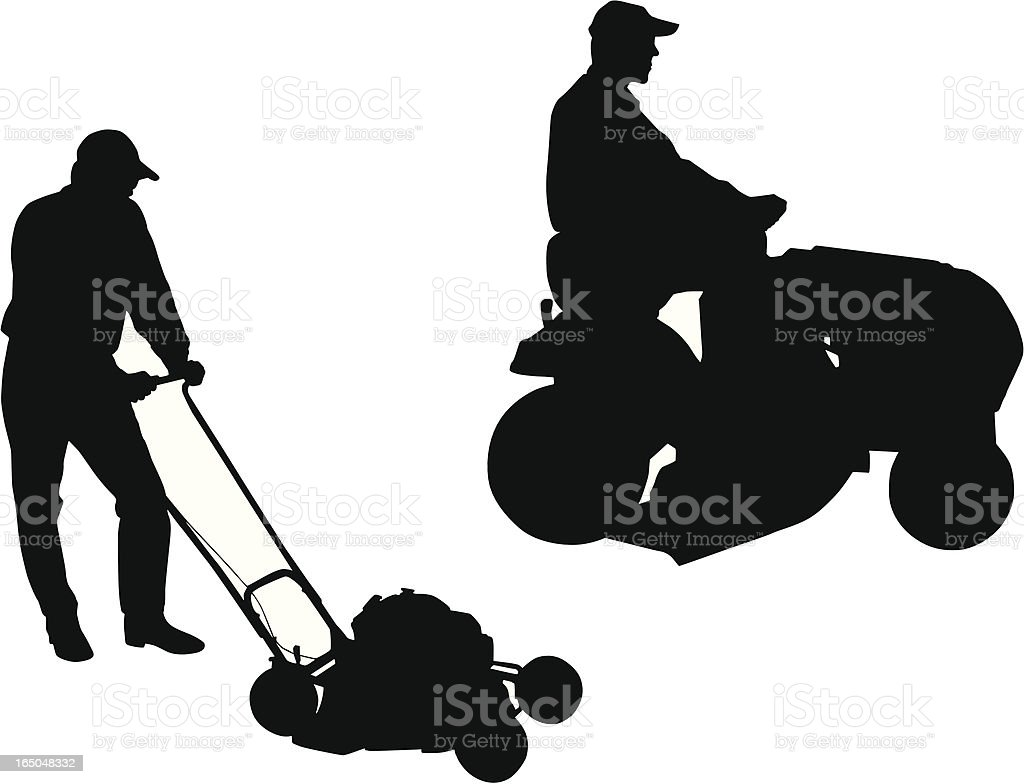 riding lawn mower clip art, vector images & illustrations - istock