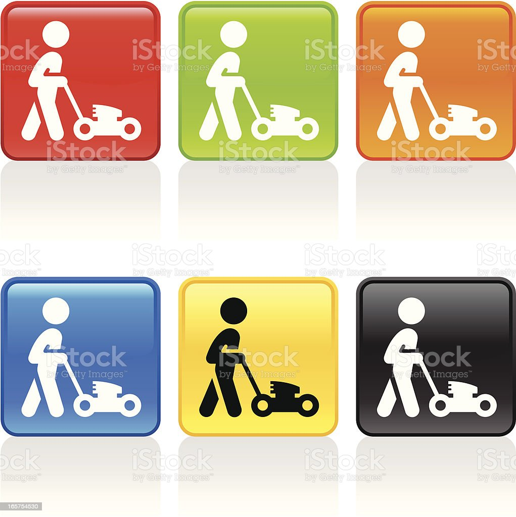 Lawn Mowing Icon royalty-free stock vector art