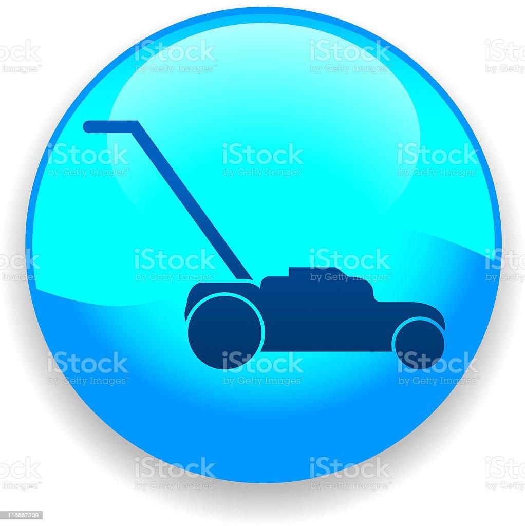 Lawnmower Icon vector art illustration