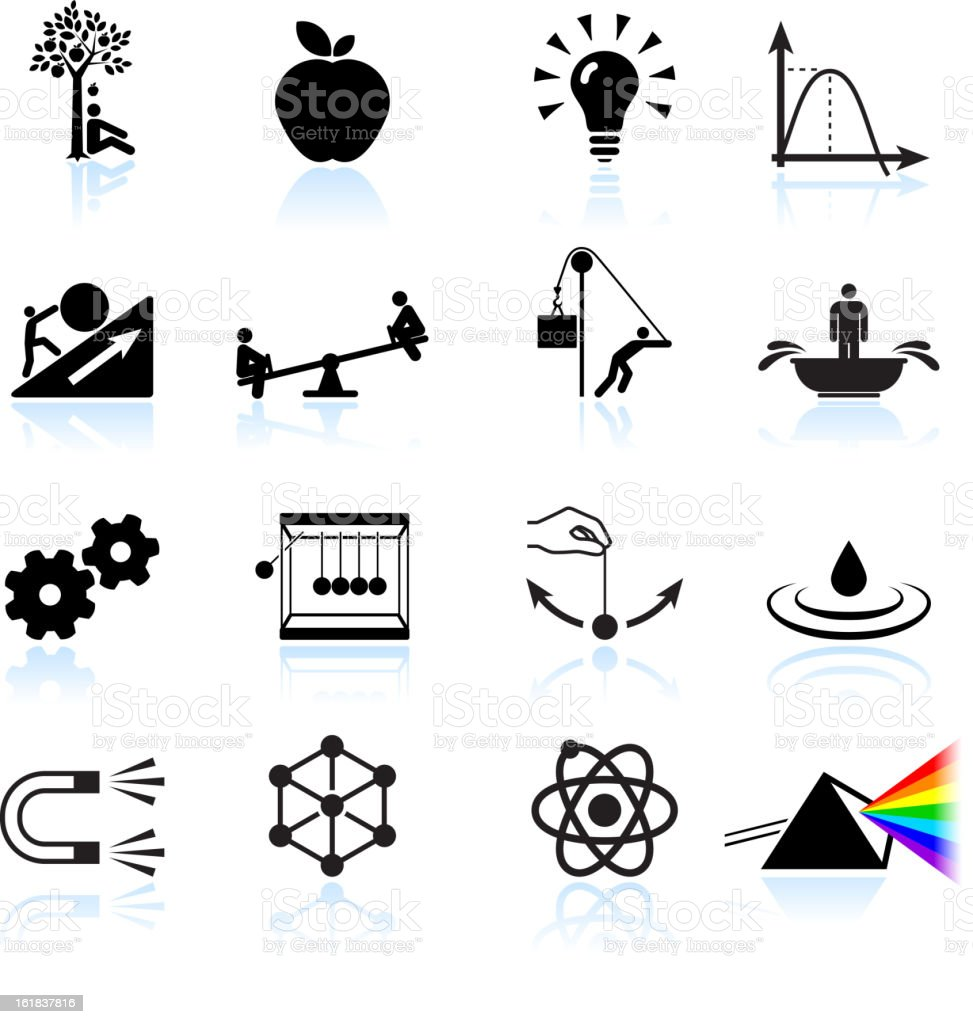 Laws of Physics royalty free vector icon set