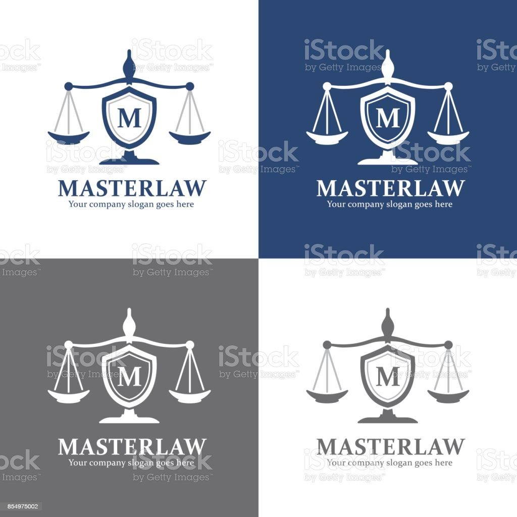 Lawyer and Justice Office icon, Attorney Brand - illustrazione arte vettoriale