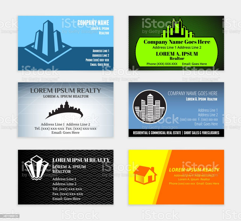Lawyer Attorney Business Card Set Wtih Law Office Stock Vector Art ...