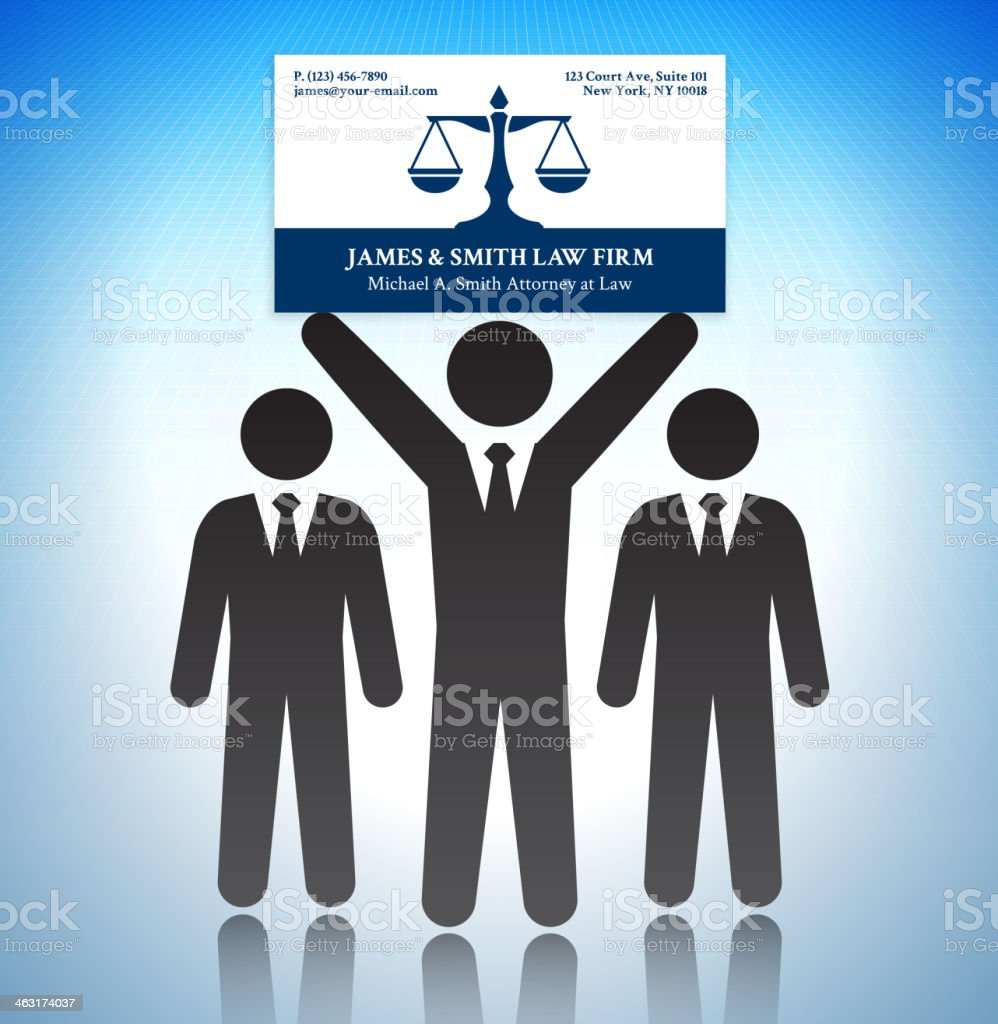 Lawyer Business Card With Stick Figures stock vector art 463174037 ...