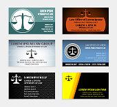 Lawyer Business Cards Color Set
