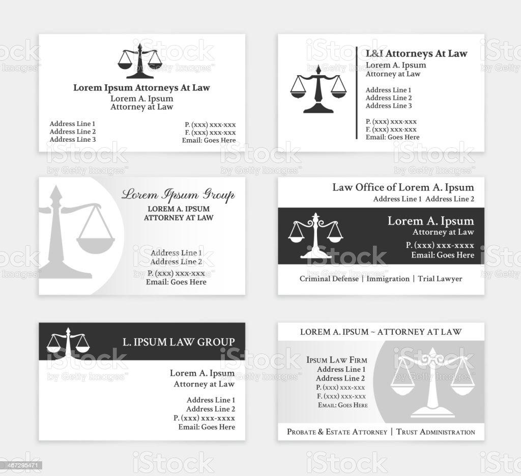 Super Avocat Cartes De Visite Ensemble Stock Vecteur Libres de Droits  PP01