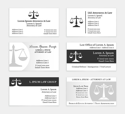 Lawyer Business Cards Set