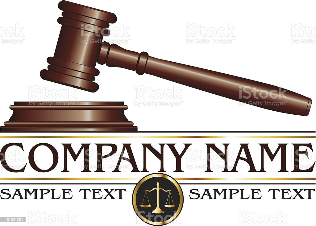 Lawyer or Law Firm Design vector art illustration