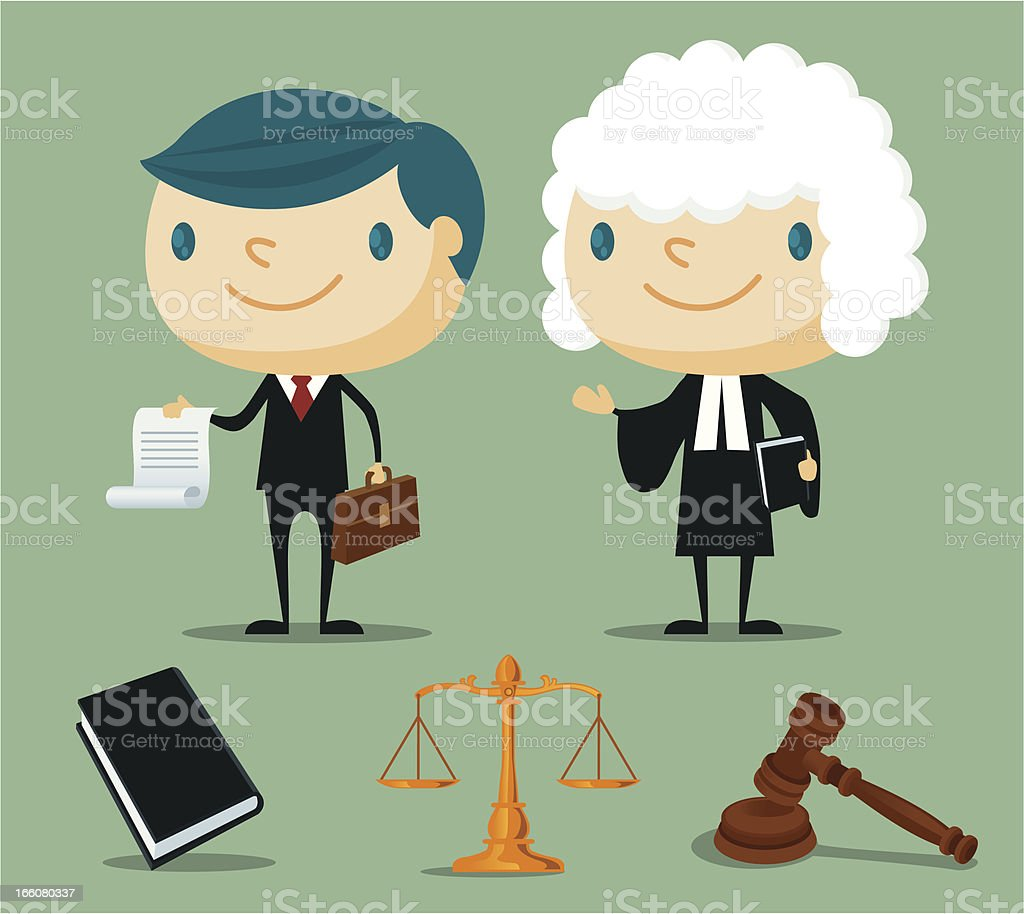 Lawyer royalty-free stock vector art