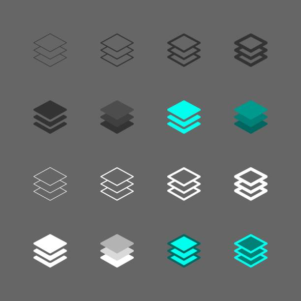 Layer Icon - Multi Series Layer Icon - Multi Series multi layered effect stock illustrations
