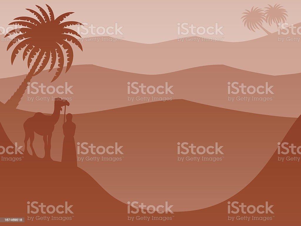 Layered Landscape Background: Desert Red vector art illustration
