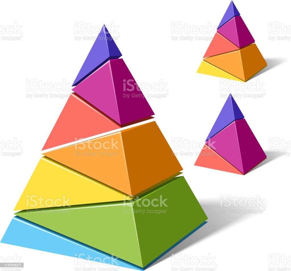 Layered pyramids royalty-free stock vector art
