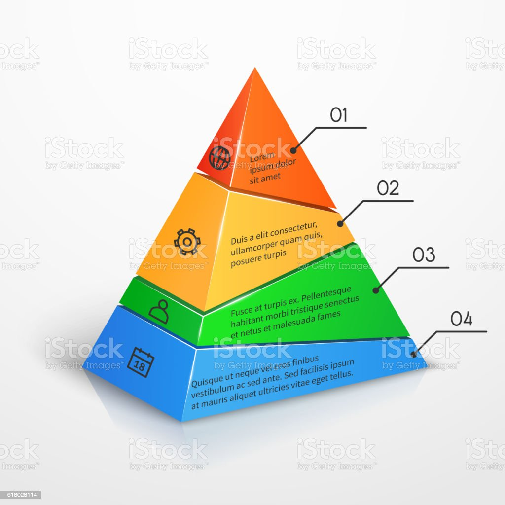 layers hierarchy pyramid chart vector presentation infographic