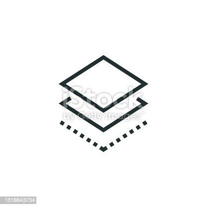 istock Layers Line Icon 1316643734
