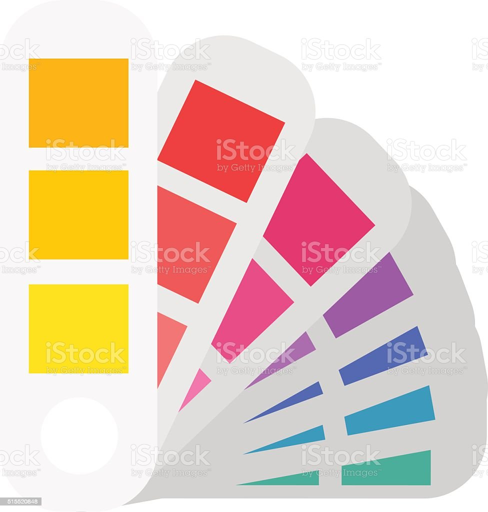 Layout color samples to determine preferences in the printing industry vector art illustration