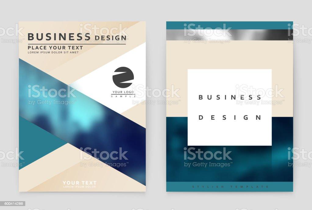 Layout design template, annual report brochure. vector art illustration