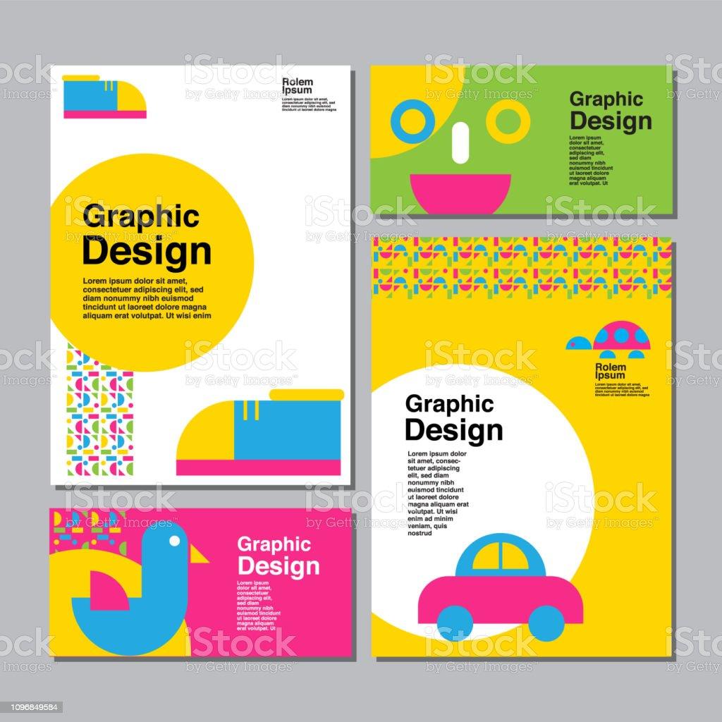 Layout Design Template Cover Book Colorful Cute Children ...