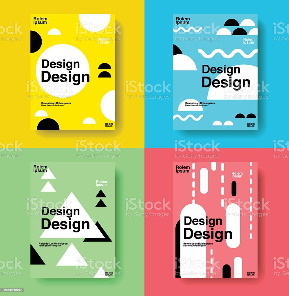 Cute Book Cover Drawing ~ Layout design template cover book colorful cute vector
