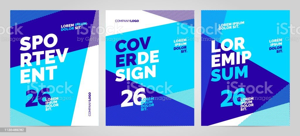 Blue layout design template for sport event, tournament or...