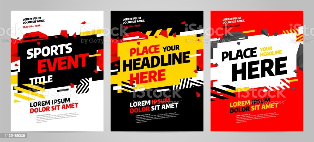 Layout design template for sport event, tournament or competition....