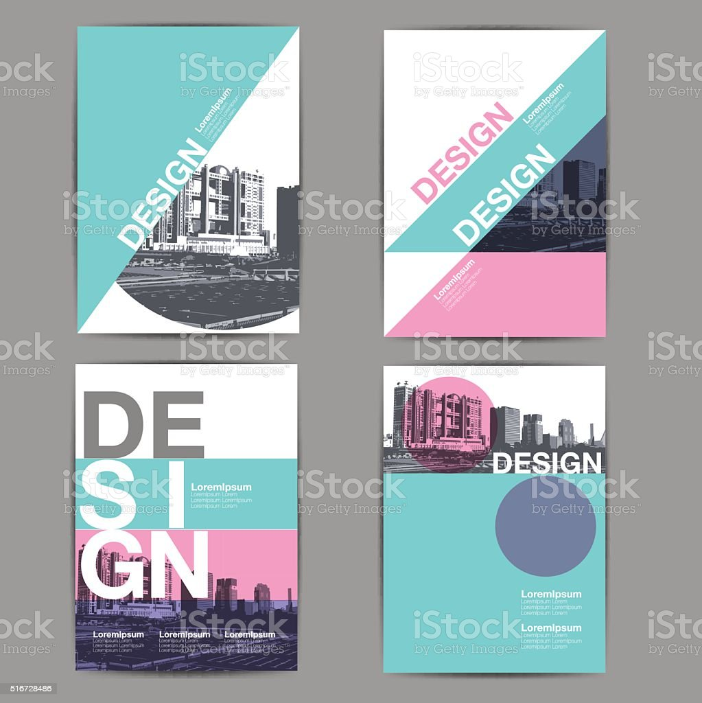 layout design, template vector art illustration