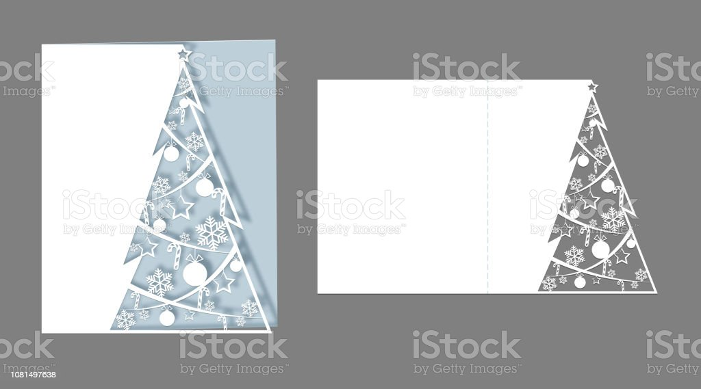 Layout Laser Cut For Christmas Cards Openwork Christmas